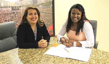 Ana Paula Porto, gerente-executiva da Graça Music, e Dina Santos